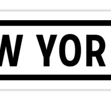 New York Lite Sticker