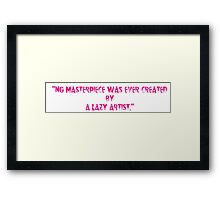 quoted tshirts Framed Print