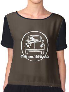 Beetle - Cult on Wheels (white) Chiffon Top