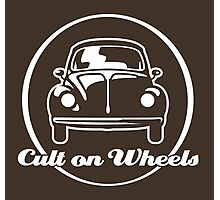 Beetle - Cult on Wheels (white) Photographic Print