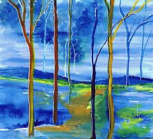 New Year's trees by Elizabeth Kendall