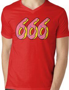 666 Doughnut Mens V-Neck T-Shirt