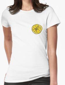 Silkscreen lemon, Stone Roses inspiration Womens Fitted T-Shirt