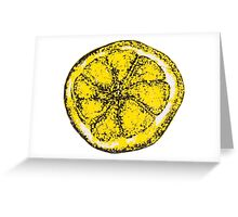 Silkscreen lemon, Stone Roses inspiration Greeting Card