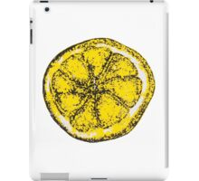 Silkscreen lemon, Stone Roses inspiration iPad Case/Skin