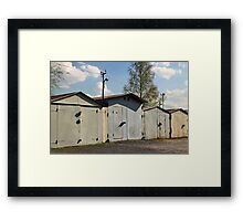 old private garages in a row Framed Print