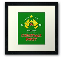 Nakatomi Corp Christmas Party 1988 T-Shirt Framed Print