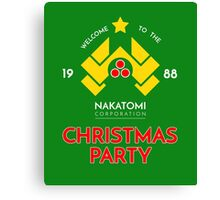 Nakatomi Corp Christmas Party 1988 T-Shirt Canvas Print