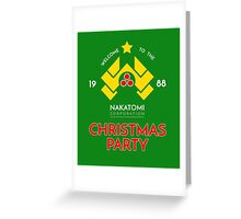 Nakatomi Corp Christmas Party 1988 T-Shirt Greeting Card