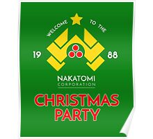 Nakatomi Corp Christmas Party 1988 T-Shirt Poster