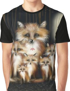Fox Family Graphic T-Shirt