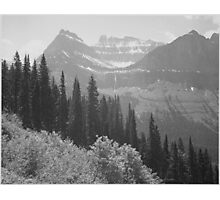 Ansel Adams - Glacier National Park Photographic Print