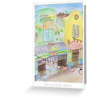 Spirited Away Background Design Greeting Card