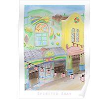 Spirited Away Background Design Poster
