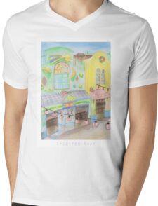 Spirited Away Background Design Mens V-Neck T-Shirt