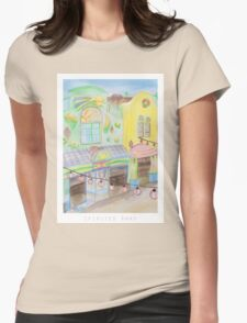 Spirited Away Background Design Womens Fitted T-Shirt