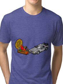 Zeitmaschinenschaden - crash in the fourth dimension Tri-blend T-Shirt