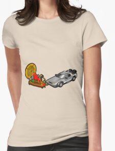 Zeitmaschinenschaden - crash in the fourth dimension Womens Fitted T-Shirt