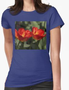 Fiery Tulips Womens Fitted T-Shirt