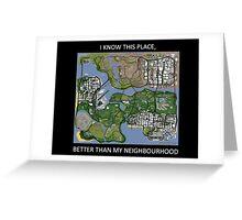 gta san andreas map Greeting Card