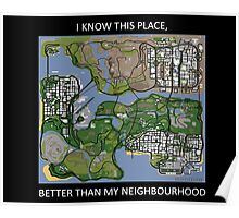 gta san andreas map Poster