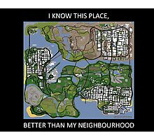 gta san andreas map Photographic Print