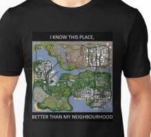 gta san andreas map Unisex T-Shirt
