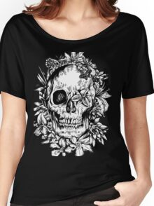 floral skull 1 Women's Relaxed Fit T-Shirt
