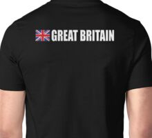 GREAT BRITAIN, GB, Union Jack, Team, Sport, British Flag, UK, United Kingdom, White on BLACK Unisex T-Shirt