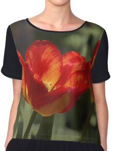 Fiery Tulips Chiffon Top