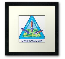 MISSILE COMMAND - ATARI COLD WAR Framed Print