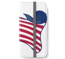 American Flag ( Scrolling ) iPhone Wallet/Case/Skin