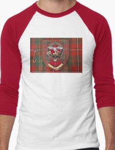 Hay Crest on Kilt - Ancient Tartan colours Men's Baseball ¾ T-Shirt