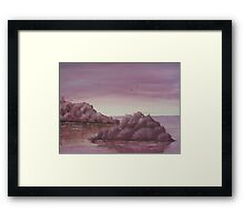 Purple Island Framed Print