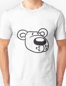 polar bear face head sweet cute comic cartoon teddy dick big Unisex T-Shirt