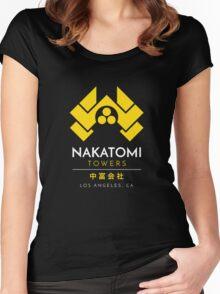 Nakatomi Towers T-Shirt Women's Fitted Scoop T-Shirt