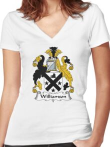 Williamson Coat of Arms / Williamson Family Crest Women's Fitted V-Neck T-Shirt