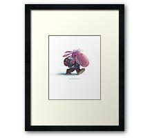 The little sheep's journey Framed Print