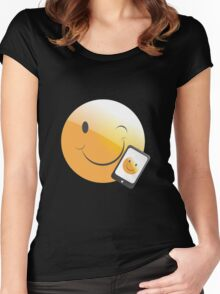 emotion phone Women's Fitted Scoop T-Shirt