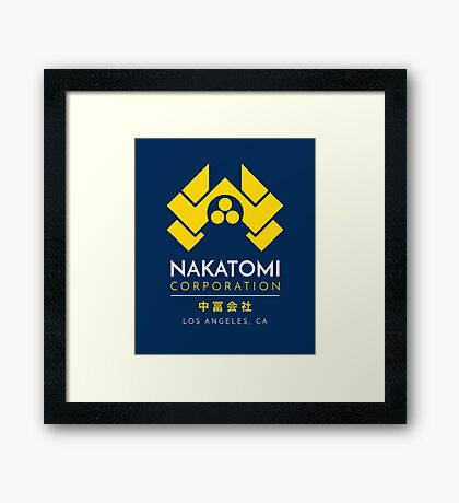 Nakatomi Corporation T-Shirt Framed Print