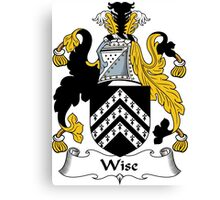 Wise Coat of Arms / Wise Family Crest Canvas Print