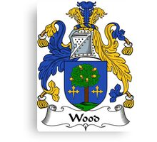 Wood Coat of Arms / Wood Family Crest Canvas Print