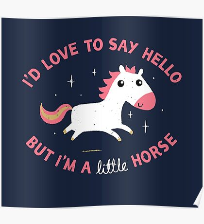 I'm A Little Horse Poster