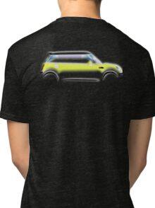 MINI, BMW, Mini Car, Liquid Yellow, British, Icon, Yellow Mini, Motor car Tri-blend T-Shirt