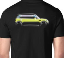 MINI, BMW, Mini Car, Liquid Yellow, British, Icon, Yellow Mini, Motor car Unisex T-Shirt