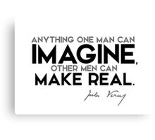 imagine, make real - jules verne Canvas Print