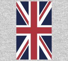 British, Union Jack, Flag portrait, 3:5, UK, GB, Britain, United Kingdom, Army, War Flag, Pure & Simple One Piece - Short Sleeve