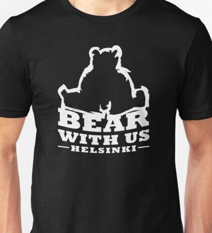 Bear With Us Helsinki Heavy Bear Sitting Unisex T-Shirt