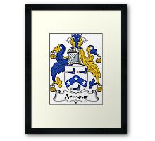 Armour Coat of Arms / Armour Family Crest Framed Print