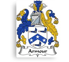 Armour Coat of Arms / Armour Family Crest Canvas Print